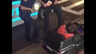Cops pull over toddlers for being too cute