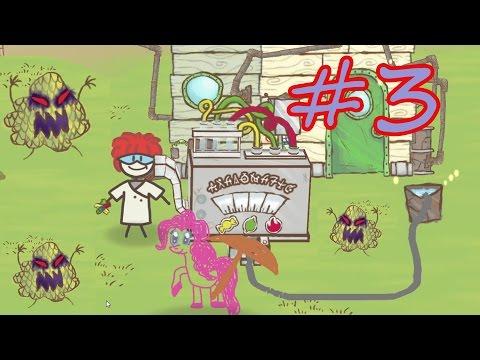 ПИНКИ ПАЙ В ИГРЕ Draw a stickman EPIC 2 #3. Деремся с злыми кустами. Стикмен My little pony.