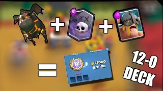 Clash Royale- Perfect 12 Win  Grand Challenge Deck! w/ Lavahound, Graveyard, and Elite Barbarians