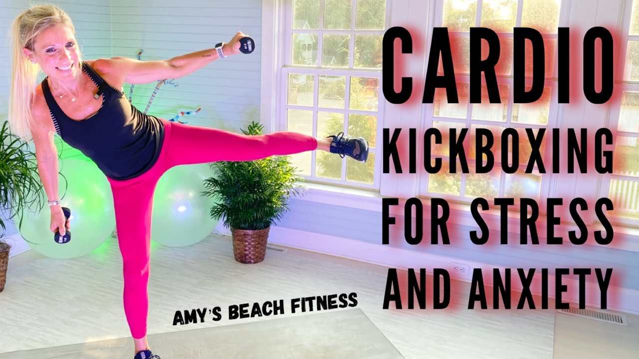 Cardio Kickboxing Workout for Stress, Tension and Anxiety - 30 MIN