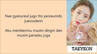 Download Taeyeon - Four Seasons Lyrics [Rom+Indo] Mp3