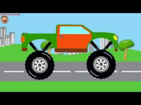 le-camion-monstre-|-assemblage-et-acrobaties-|-voitures-pour-les-enfants-|-dessin-animé