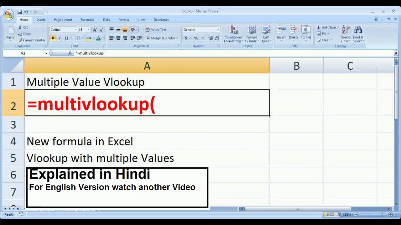 how to use vlookup to add multiple values