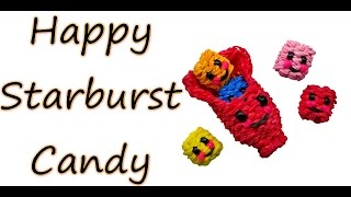 Happy Starburst Candy Tutorial by feelinspiffy (Rainbow Loom)