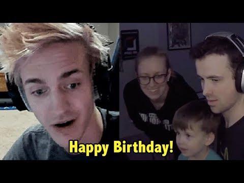 Ninja Reacts To DrLupo Son Singing Him Happy Birthday - Fortnite