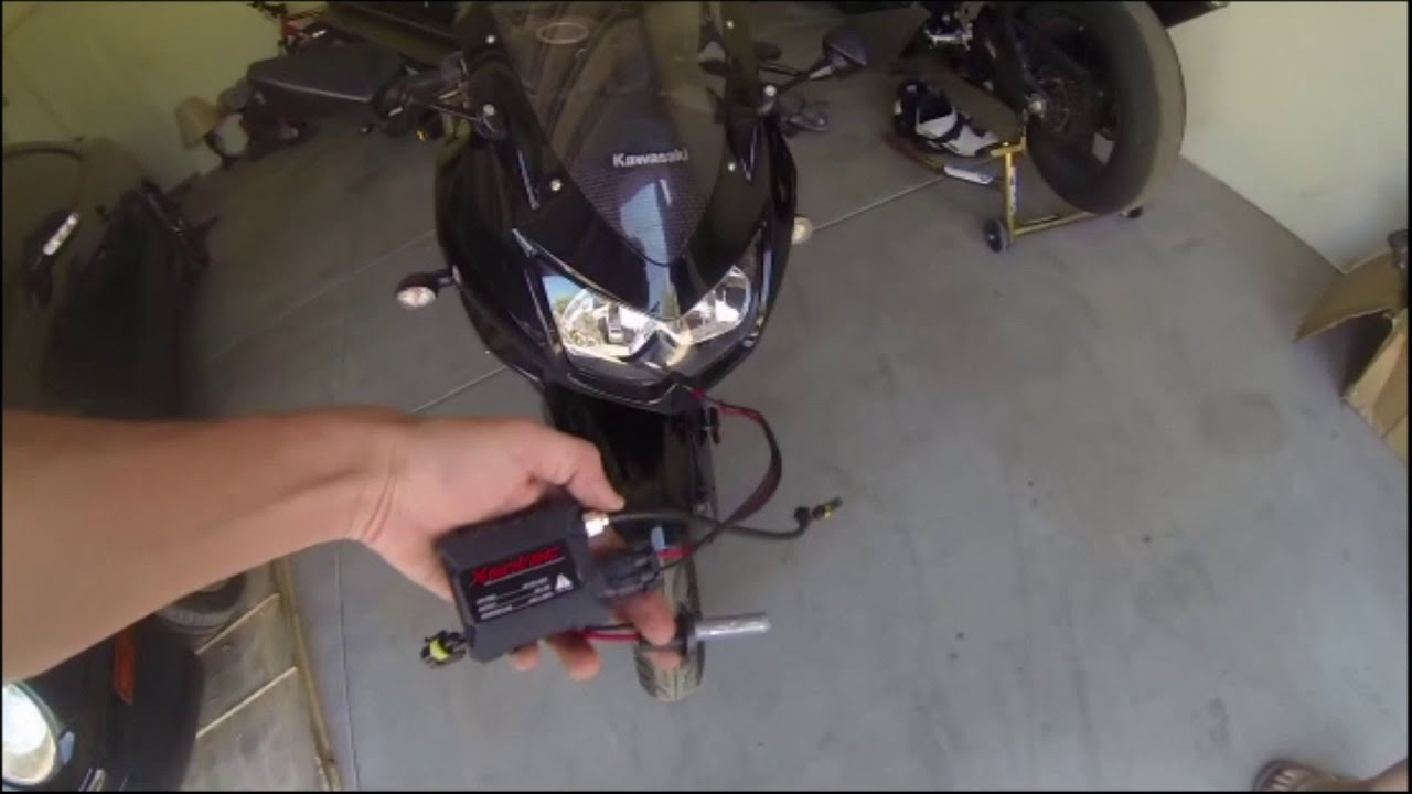 maxresdefault 2009 kawasaki ninja 250r hid install youtube GM Headlight Wiring Harness at bakdesigns.co