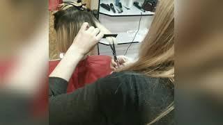 Женская стрижка каре Красиво подстричь волосы в Броварах Татьяна Угро салон красоты La Familia