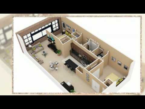 2 bedroom floor plans 3d - youtube