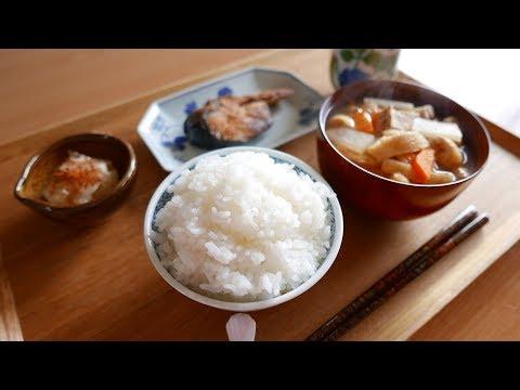 鮭とけんちん汁 夜のカツ丼
