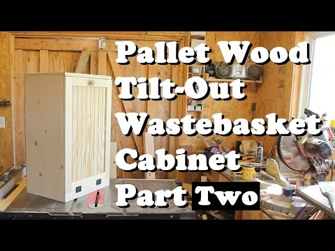Pallet Wood Wastebasket Cabinet 2 *Free plans*