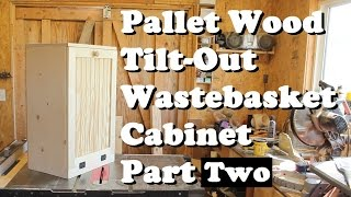 Had to narrate this one. In this video I cover the final cutting and assembly of the wastebasket cabinet. I used pocket holes because