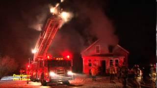 Woman burned escaping house fire in Uxbridge, Ma