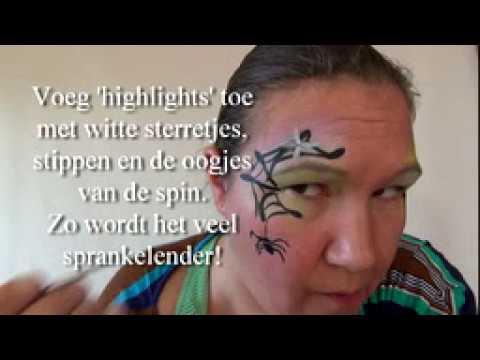 Super Heks met spinnenwebje schminken stap voor stap - YouTube PR-66