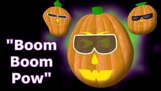 Boom Boom Pow - Singing Pumpkins Halloween light show 2011