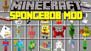 Minecraft SPONGEBOB SQUAREPANTS MOD! | SPONGEBOB, PATRICK, SQUIDWARD, & MORE! | Modded Mini-Game thumbnail