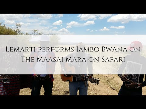 Lemarti performs on Safari on the Maasai Mara
