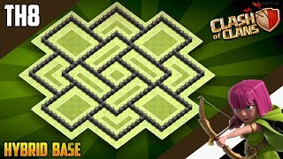 NEW INSANE TH8 HYBRID/TROPHY Base 2019!! COC Town Hall 8 (TH8) Trophy Base Design - Clash of Clans