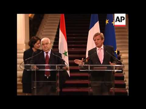 CLIENT REPLAY TPBS TOKYO French and Syrian FMs on Iran, Israel
