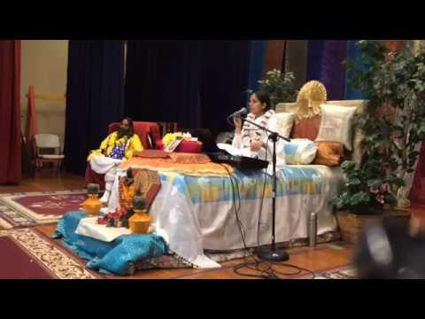 Murlika Ji in USA 2016 - Bhagwat Katha at Hindu Temple of Charlotte NC Day 02 - Aug 08 Part 01