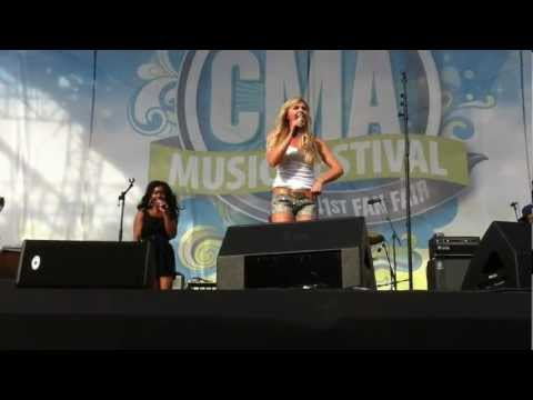 Laura Bell Bundy - 'Two Step' dance lesson Live from CMA Fest 2012