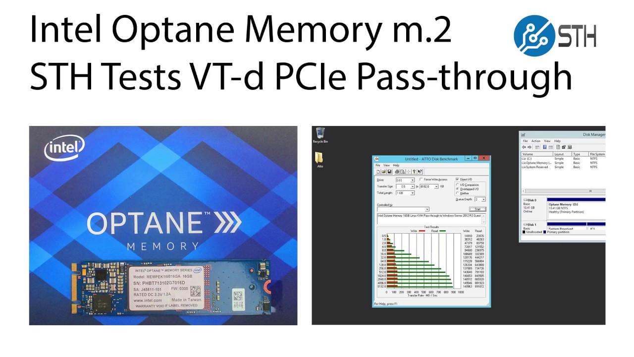 Intel Optane Memory Linux KVM VT-d Pass through to Windows Server Guest VM