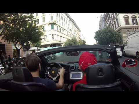 Driving Ferrari California in Rome