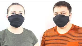 как сделать МАСКУ для лица защита от вирусов медицинская маска из салфеток своими руками за 1 минуту