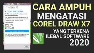 Cara Mengatasi Corel Draw X7 Yang Terkena Ilegal Software 2020