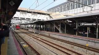 ㌔185系四国まんなか千年ものがたり号  岡山駅車両展示会終了回送列車発車