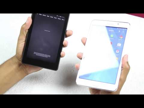 (Amazon) Fire HD 6 vs Galaxy Tab 4 7 0 (Size Comparison)​​​ | H2TechVideos​​​