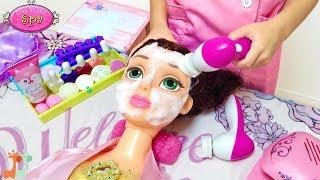 エステサロン お店屋さんごっこ ベル ラプンツェル ディズニープリンセス / Princess Bell Spa Day! Facial Cleansing Beauty Salon