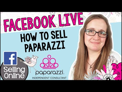 How to sell Paparazzi Jewelry on Facebook LIVE