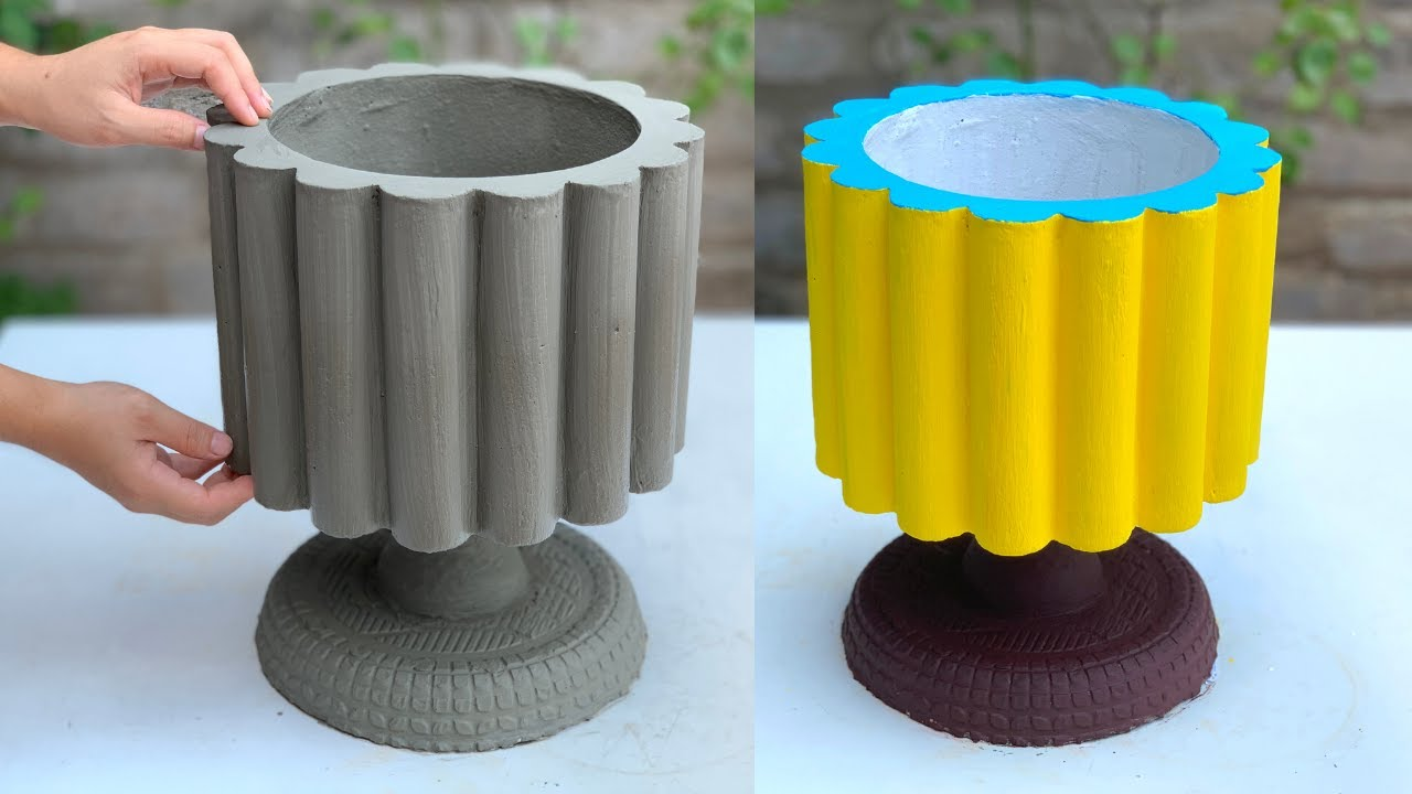 Creative Beautiful Flower Pots For The Garden From Cement