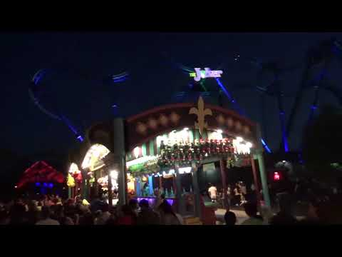 Six Flags Great America Frightfest Walk Through at Night 10-21-17