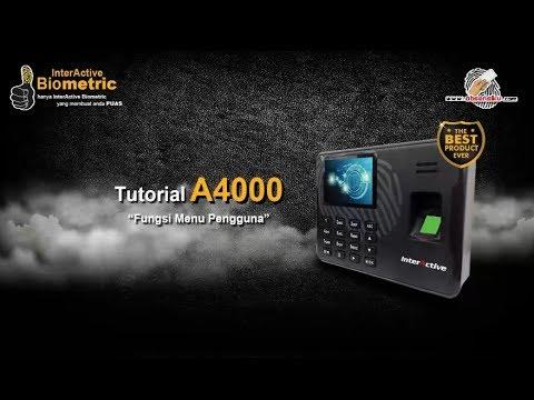 Tutorial Setting Menu Pengguna Mesin Absensi Fingerprint A-4000