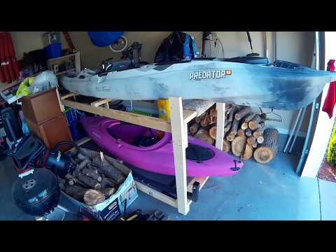 DIY wood kayak stand