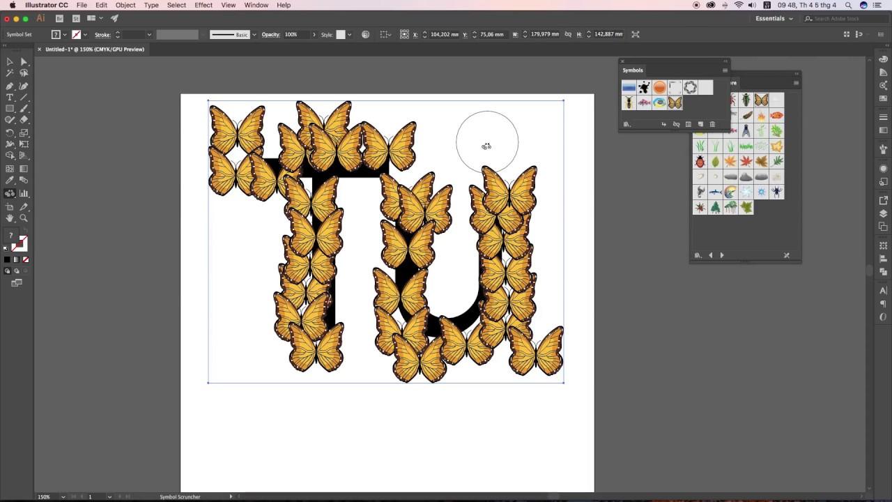 Tự học illustrator – 29/60 Chèn các biểu tượng Symbols