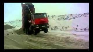 Север России Ямал!!! Забастовка грузовиков Iveco)))