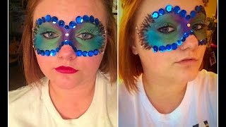 PEACOCK MASQUERADE MASK | HALLOWEEN TUTORIAL