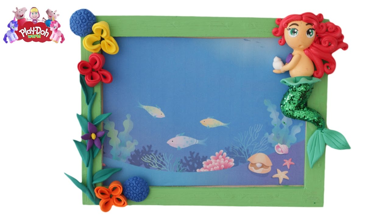 disney princess ariel play doh how to make frame creation funny 3d modeling - Disney Picture Frame