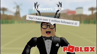 HOW I GOT FAMOUS IN ROBLOX (NEW FAME SIMULATOR ROBLOX GAME)