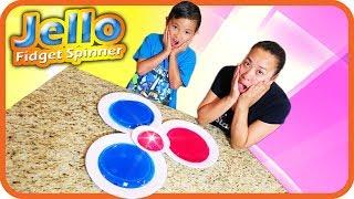 FIDGET SPINNER JELLO + Giant DIY Jello Spinner with Mom - TigerBox HD
