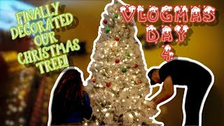 VLOGMAS DAY 4 | DECORATING OUR CHRISTMAS TREE | GLAMOUR FAMILY