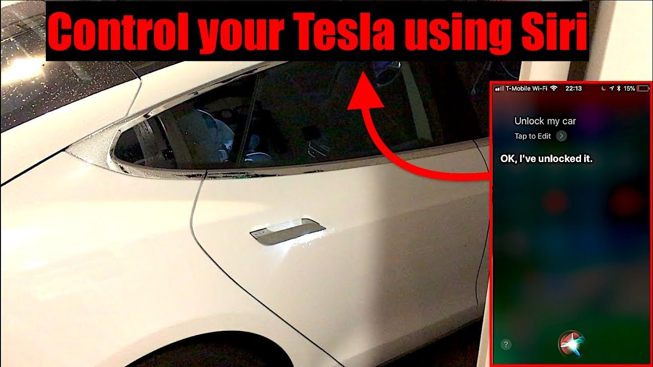 Control your Tesla Model S, 3, X, or Y with iPhone Siri Integration| iOS