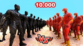 10.000 FLASH VS 10.000 KARA PANTER 😱 - Süper Kahramanlar
