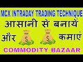 Easily create intraday trading techniques in MCX and make money yourself ( COMMODITY BAZAAR )