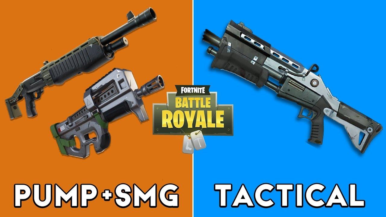 pump smg combo vs tactical shotgun - fortnite pump vs tactical