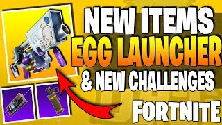 All *NEW* EGG LAUNCHER Weapon In FORTNITE! New Items & Season 3 / Week 3 Challenges (Leaked Weapon)