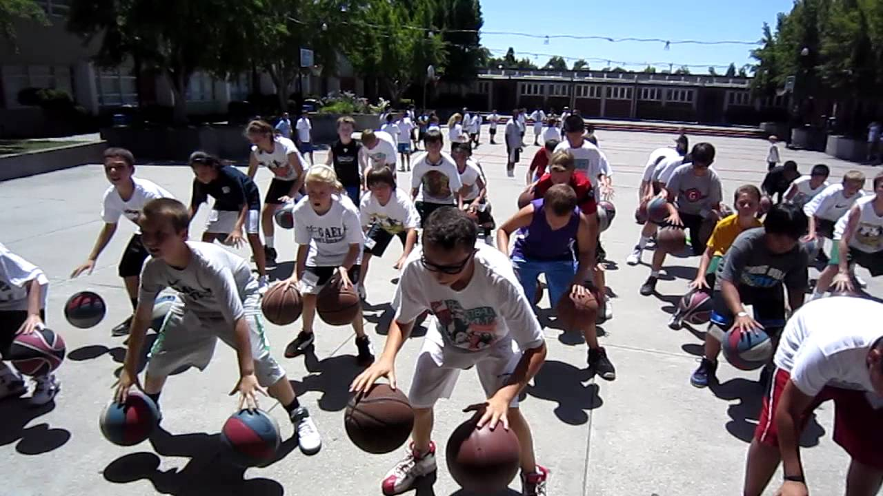 excel basketball camp 2 ball dribbling mov youtube