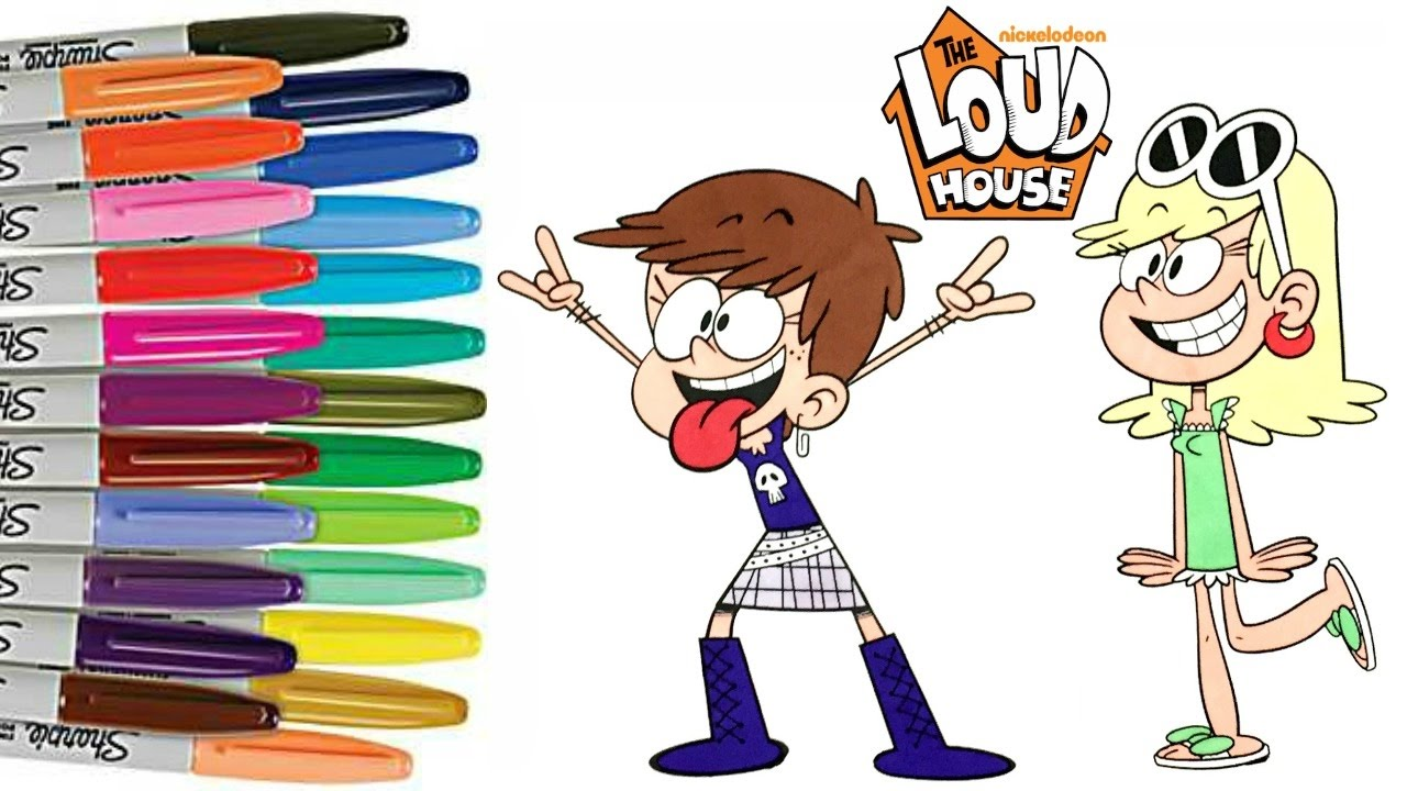 the loud house luna and leni coloring book page nickelodeon coloring pages